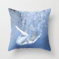 kozyndan Throw Pillows featuring Succumb by kozyndan