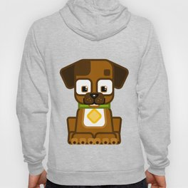 Super cute animals - Cute Brown Puppy Dog Hoody