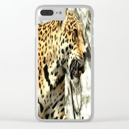 tree branch african safari animal leopard Clear iPhone Case