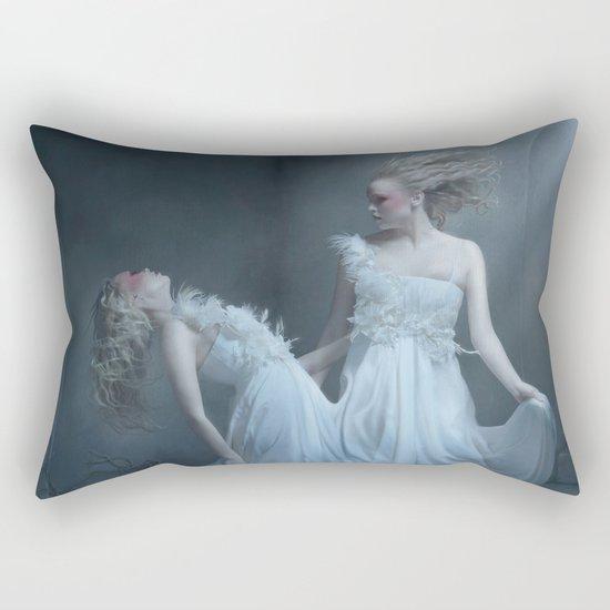Upon the eternal sleep Rectangular Pillow