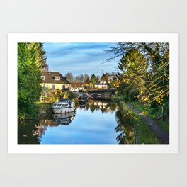 Towpath Into Hungerford Art Print