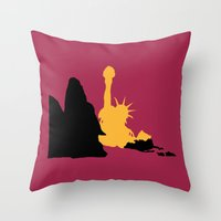 planet of the apes Throw Pillows featuring Planet of the Apes by FilmsQuiz