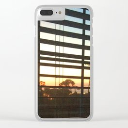 Sunrise through the Blinds Clear iPhone Case
