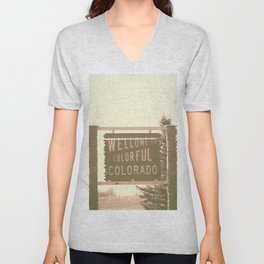 welcome to colorful colorado Unisex V-Neck