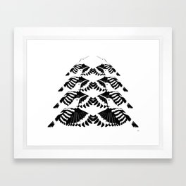 Hoopoe Bird Mirror Framed Art Print