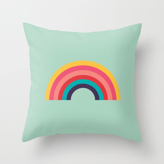 Rainbow Throw Pillow By 914k Society6