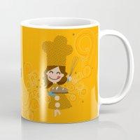 baking Mugs featuring Baking MaMa by inkdesigner