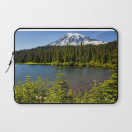 Wildflower Color by Reflection Lake and Mt Rainier, No. 2 Laptop Sleeve