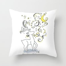 Deer Design Throw Pillow