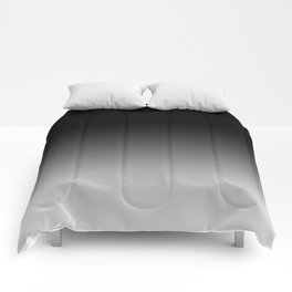 Blurred Black and White Comforters