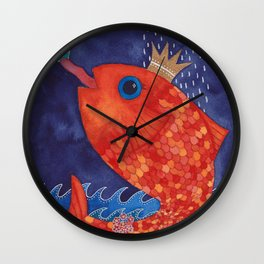 Something's Fishy Wall Clock