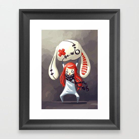 Bunny Plush Framed Art Print