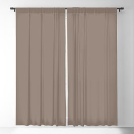 Mid-tone Brown Solid Color Behr 2021 Color of the Year Accent Shade Bridle Leather N180-5 Blackout Curtain