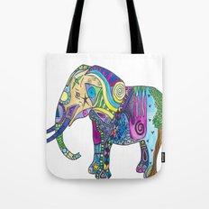 Elephant Profile Tote Bag