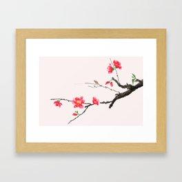 red Japan begonia Framed Art Print