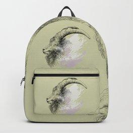 Mountain goat Ram portrait head Backpack