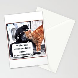 Milonga Cat - Welcome Dancers From Other Communities Stationery Cards