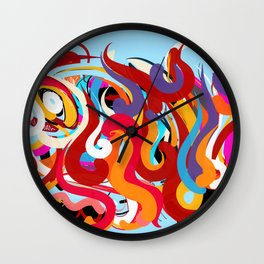 Blue Abstraction Composition Wall Clock
