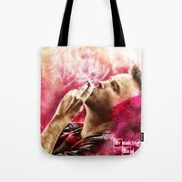 jesse pinkman Tote Bags featuring Breaking Bad - Jesse Pinkman by p1xer