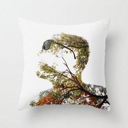 """Mr. Branchy"" Throw Pillow"