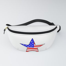 Star and flag of Usa - america,us,united states,american,spangled,star and strips Fanny Pack