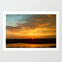 A Northern Sunset Art Print