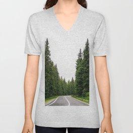 On the road Unisex V-Neck
