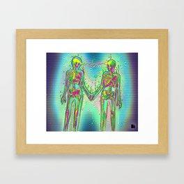 Skeleton Love Framed Art Print