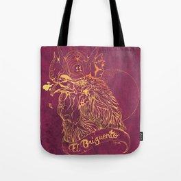 El Briguento - The Fighter (Golden) Tote Bag