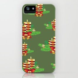 Decorative Christmas Candle iPhone Case