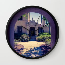 Courtyard Fox Hall Corrin Hall Rollins College Winter Park Central Florida Orlando Wall Clock