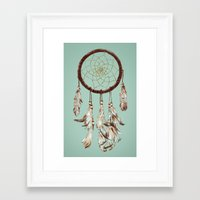 dreamcatcher Framed Art Prints featuring dreamcatcher by tipsyeyes