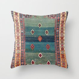 Sivas Antique Turkish Niche Kilim Print Throw Pillow