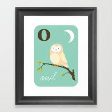 O is for Owl Framed Art Print