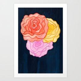 Dame de Coeur Art Print