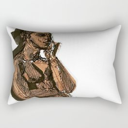 Thoughts That Require Nudity Rectangular Pillow