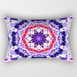 Crystal Star Mandala Rectangular Pillow