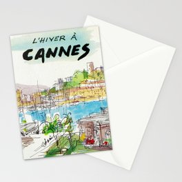 Winter In Cannes Stationery Cards