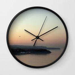 Northbay at Sunset Wall Clock