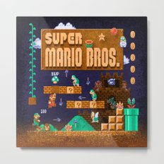Mario Super Bros Metal Print