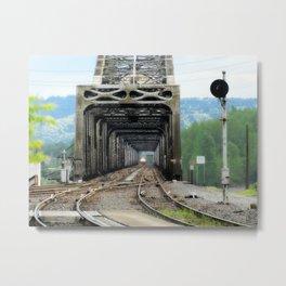 "Northbound Amtrak ""Coast Starlight"" at Vancouver, WA Metal Print"