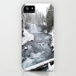 The Wild McKenzie River Waterfall - Nature Photography iPhone Case