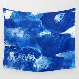 Bold Cerulean Wall Tapestry