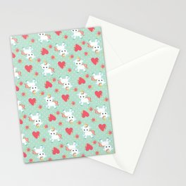 Baby Unicorn with Hearts Stationery Cards