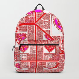 Big hearted Love (pink) Backpack