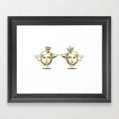 Siamese Queens Framed Art Print