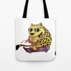 Skating Cheetah Tote Bag