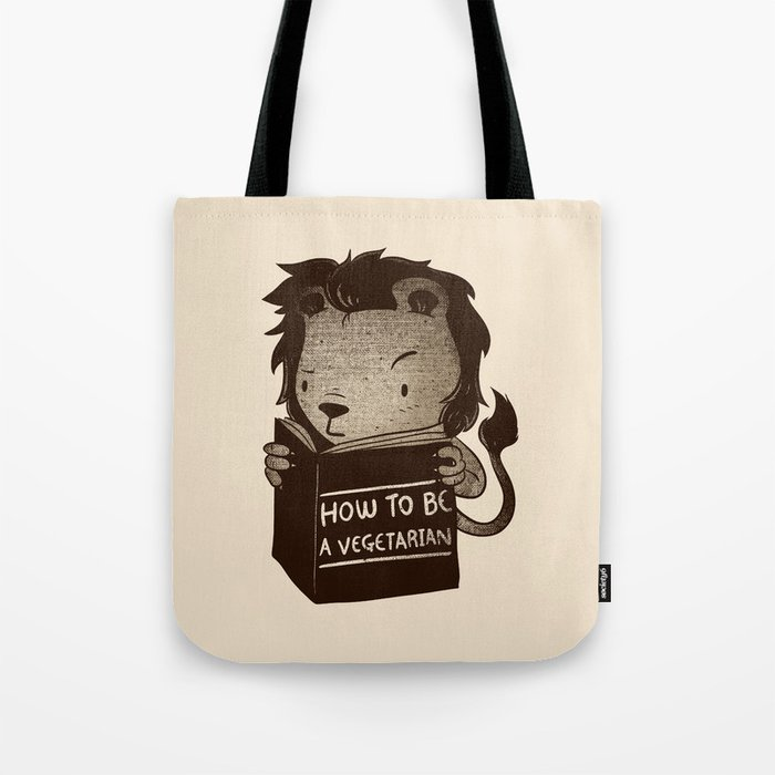 Lion Book How To Be Vegetarian Tote Bag