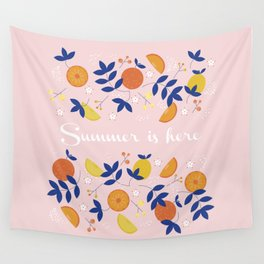 Summer is here- soft pattern Wall Tapestry