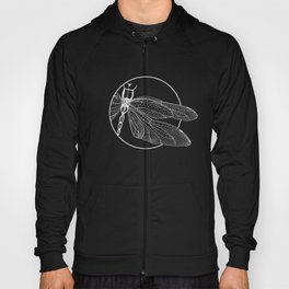 Dragonfly on Blue Hoody